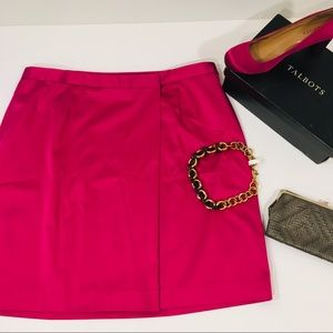 Dresses & Skirts - Talbots NWT satin Cranberry Pink Skirt Size 20WP
